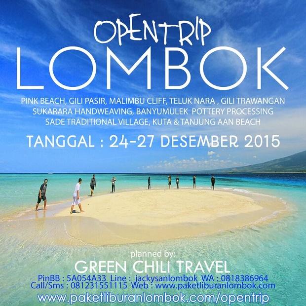 Open Trip Lombok 4 Hari 3 Malam Desember 2015